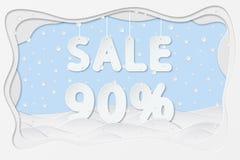 Πώληση κείμενο 90 τοις εκατό Στοκ φωτογραφίες με δικαίωμα ελεύθερης χρήσης