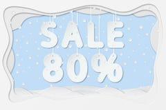 Πώληση κείμενο 80 τοις εκατό Στοκ Εικόνες