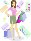 πώληση κοριτσιών διανυσματική απεικόνιση