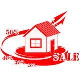 Πώληση λογότυπων σπιτιών Στοκ Φωτογραφία