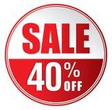Πώληση 40% μακριά Στοκ Φωτογραφίες