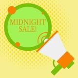 Πώληση μεσάνυχτων κειμένων γραψίματος λέξης Η επιχειρησιακή έννοια για το κατάστημα θα είναι ανοικτή μέχρι τα μεσάνυχτα με τη μεγ διανυσματική απεικόνιση