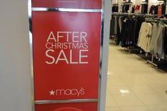 60-75 πώληση μετά από την πώληση Χριστουγέννων σε Marcy ` s Στοκ εικόνες με δικαίωμα ελεύθερης χρήσης