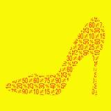 Πώληση παπουτσιών έκπτωσης Στοκ φωτογραφίες με δικαίωμα ελεύθερης χρήσης