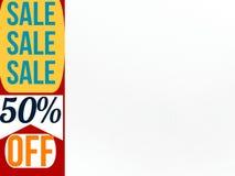 Πώληση πενήντα τοις εκατό από το έμβλημα για την προσωπική χρήση ελεύθερη απεικόνιση δικαιώματος
