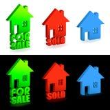 πώληση σπιτιών που πωλείτα& Στοκ Εικόνες