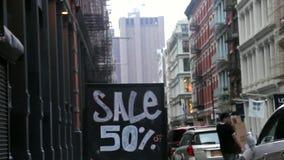 50-πώληση-σύστημα σηματοδότησης απόθεμα βίντεο