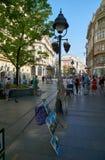 Πώληση της τέχνης και των αναμνηστικών σε Βελιγράδι Στοκ φωτογραφία με δικαίωμα ελεύθερης χρήσης