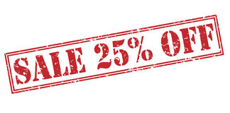 Πώληση 25 τοις εκατό από το κόκκινο γραμματόσημο Στοκ Εικόνες