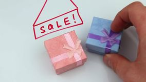 Πώληση των δώρων απόθεμα βίντεο