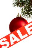 πώληση Χριστουγέννων στοκ φωτογραφία