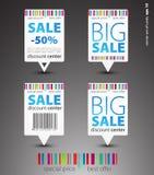 πώληση δεικτών χρώματος Στοκ Εικόνα