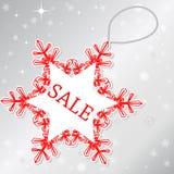 Πώληση snowflake Στοκ εικόνες με δικαίωμα ελεύθερης χρήσης
