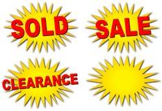 πώληση starbursts διανυσματική απεικόνιση