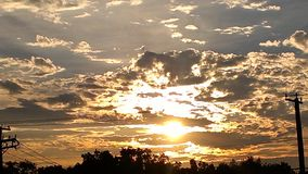 Πώς η αλλαγή ουρανού Στοκ Εικόνα