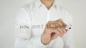 Πώς λειτουργεί; , Γραπτός στο γυαλί στοκ εικόνες