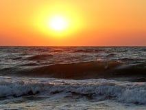 Πώς μοναδικό και όμορφο ηλιοβασίλεμα Στοκ εικόνες με δικαίωμα ελεύθερης χρήσης