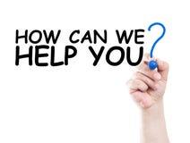 Πώς μπορούμε να σας βοηθήσουμε Στοκ Εικόνες