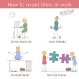 Πώς να αποφύγει την πίεση στην εργασία ελεύθερη απεικόνιση δικαιώματος