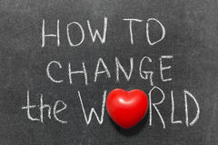 Πώς να αλλάξει τον κόσμο στοκ φωτογραφία με δικαίωμα ελεύθερης χρήσης
