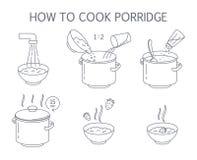 Πώς να μαγειρεψει τη νόστιμη εύγευστη οδηγία κουάκερ απεικόνιση αποθεμάτων