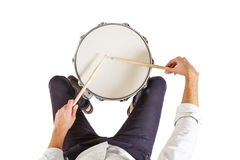 Πώς να παίξει τα τύμπανα στοκ φωτογραφία με δικαίωμα ελεύθερης χρήσης