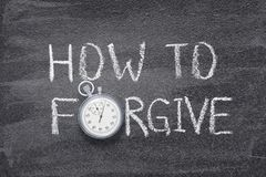 Πώς να συγχωρήσει το ρολόι Στοκ Εικόνες