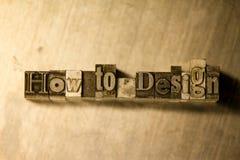 Πώς να σχεδιάσει - letterpress μετάλλων γράφοντας σημάδι Στοκ Εικόνες