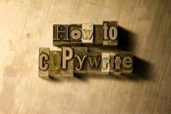 Πώς στα πνευματικά δικαιώματα - letterpress μετάλλων γράφοντας σημάδι Στοκ Φωτογραφίες