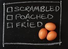 Πώς συμπαθείτε τα αυγά σας; Στοκ εικόνα με δικαίωμα ελεύθερης χρήσης