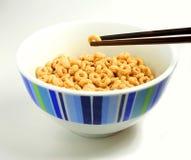 Πώς τα κινέζικα τρώνε τα δημητριακά Στοκ εικόνα με δικαίωμα ελεύθερης χρήσης
