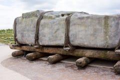 Πώς Stonehenge χτίστηκε Στοκ Εικόνα