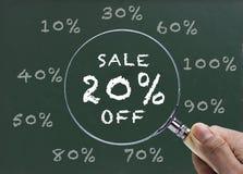 Πώληση 20% έκπτωση Στοκ φωτογραφία με δικαίωμα ελεύθερης χρήσης