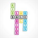 Πώληση για τις κυρίες, gents και την αυτοκόλλητη ετικέττα παιδιών Στοκ φωτογραφία με δικαίωμα ελεύθερης χρήσης