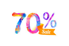 πώληση 70 εβδομήντα percents Στοκ Εικόνες
