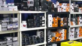 Πώληση εξοπλισμού καμερών Στοκ φωτογραφία με δικαίωμα ελεύθερης χρήσης