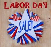 Πώληση Εργατικής Ημέρας Στοκ Εικόνες