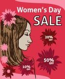 Πώληση ημέρας γυναικών Στοκ φωτογραφίες με δικαίωμα ελεύθερης χρήσης
