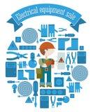 Πώληση ηλεκτρικού εξοπλισμού Στοκ εικόνες με δικαίωμα ελεύθερης χρήσης