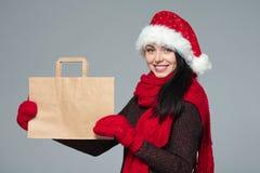 Πώληση διακοπών, αγορές, έννοια Χριστουγέννων Στοκ φωτογραφία με δικαίωμα ελεύθερης χρήσης