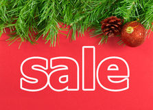 Πώληση διακοπών Χριστουγέννων Στοκ εικόνα με δικαίωμα ελεύθερης χρήσης