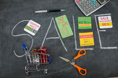 Πώληση και απόδειξη δελτίων δώρων Στοκ φωτογραφία με δικαίωμα ελεύθερης χρήσης