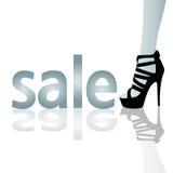 Πώληση και υψηλά τακούνια Στοκ εικόνα με δικαίωμα ελεύθερης χρήσης