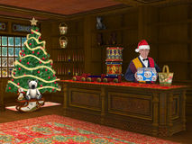 Πώληση καταστημάτων καταστημάτων παιχνιδιών Χριστουγέννων Στοκ Εικόνες