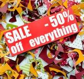 Πώληση μέχρι 50 τοις εκατό Στοκ φωτογραφία με δικαίωμα ελεύθερης χρήσης