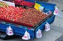 πώληση νωπών καρπών Στοκ Φωτογραφία