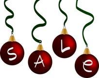 Πώληση σφαιρών Χριστουγέννων Στοκ Φωτογραφίες