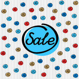 Πώληση, σύνολο ετικετών έκπτωσης Στοκ Εικόνες