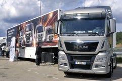 Πώληση του νέου φορτηγού Στοκ εικόνες με δικαίωμα ελεύθερης χρήσης