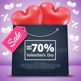 Πώληση 70 τριών κόκκινη μπαλονιών τσάντα Στοκ Φωτογραφία